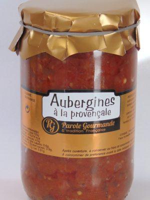 Aubergines cuisinées à la Provençale – 72cl