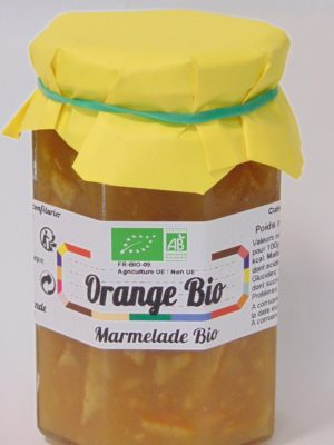 Marmelade d'orange Bio