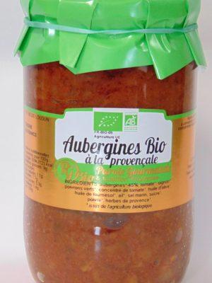 Aubergines cuisinées à la provençale Bio – 72cl