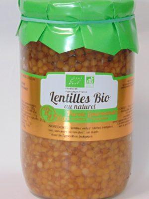Lentilles au naturel Bio – 72cl