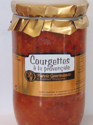 Courgettes cuisinées à la Provençale – 72cl