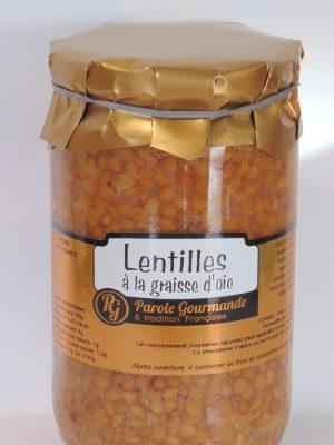 Lentilles cuisinées à la graisse d'oie – 72cl