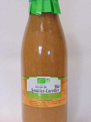 Soupe de Lentilles & Carottes Bio – 75cl