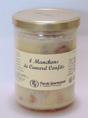 Manchons (4) de Canard confits – 85cl – 640g