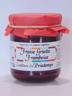 Confiture Printemps (fraise framboise griotte)