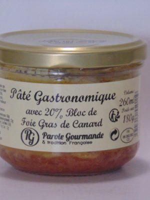 Pâté 20% bloc de foie gras de canard – 26cl