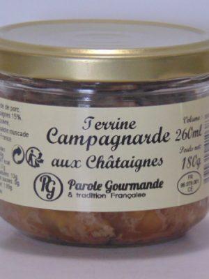 Terrine Campagnarde aux châtaignes – 26cl