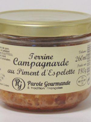 Terrine Campagnarde au Piment d' Espelette – 26cl