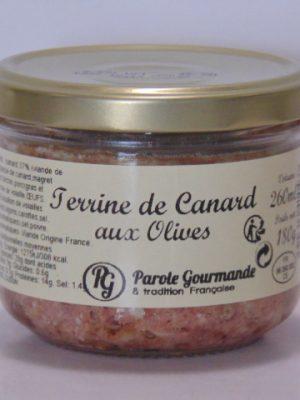 Terrine de canard aux Olives – 26cl