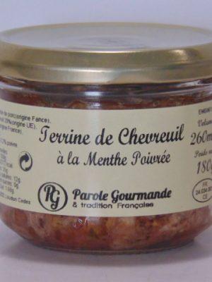Terrine de Chevreuil à la Menthe Poivrée – 26cl
