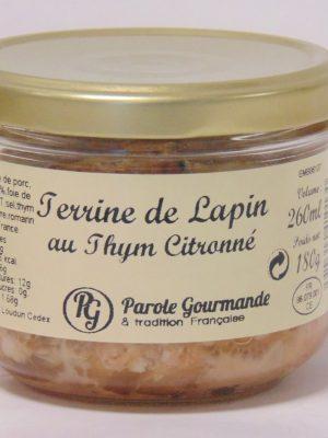 Terrine de Lapin au Thym Citronné – 26cl