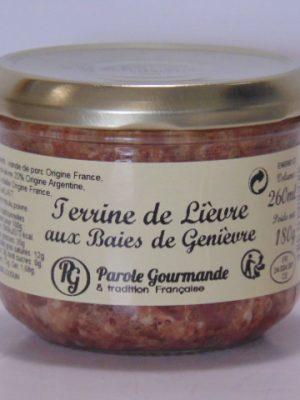 Terrine de Lièvre aux Baies de Genièvre – 26cl