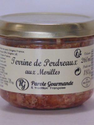 Terrine de Perdreaux aux morilles – 26cl