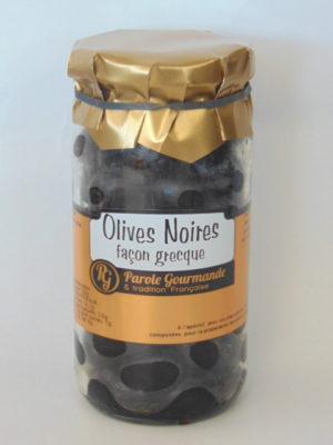 Olives noires à la Grecque – 37cl