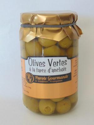Olives farcies à la pâte d'anchois – 37cl
